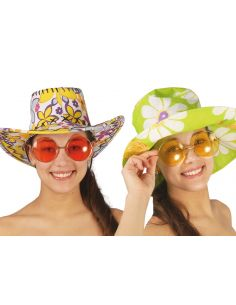 Gafas Hippie Redondas Grandes en Colores Tienda de disfraces online - venta disfraces