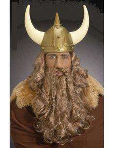 Peluca y Barba con Bigote Vikingo Tienda de disfraces online - venta disfraces