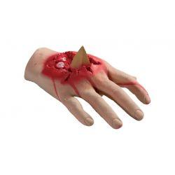 Guante mano con herida abierta
