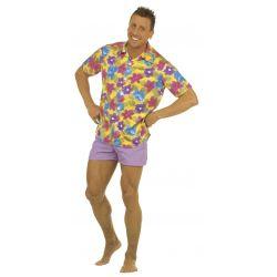 Camisa Hawaiana de Flores...