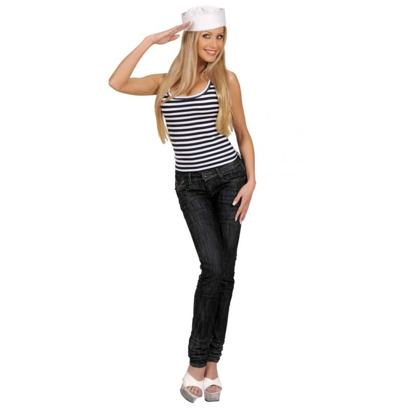 Camisa sin manga marinero raya unisex tienda de disfraces online - Disfraz marinera casero ...