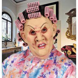 Máscara Mujer con Rulos