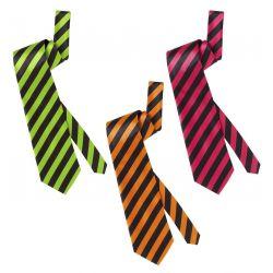 Corbata de Rayas en Raso