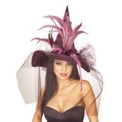 Sombrero de Bruja Lila con...