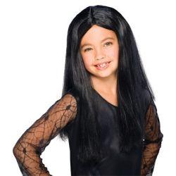 Peluca Melena Larga en Negro infantil Tienda de disfraces online - venta disfraces