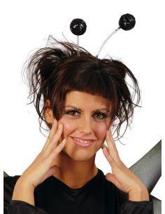 Diadema Antenas de Bola de Escarcha en Negro Tienda de disfraces online - venta disfraces