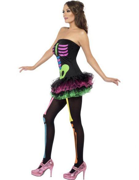 Disfraz de Esqueleto Neon Mujer Sexy