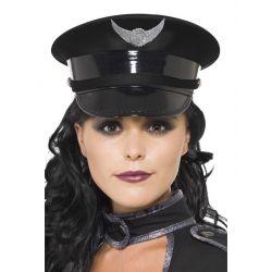 Gorra Militar Negra Steampunk
