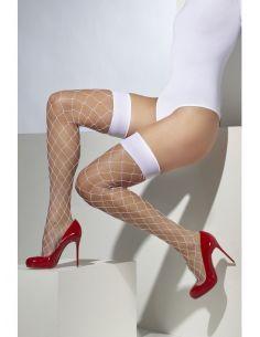 Medias Red Ancha en Blanco Tienda de disfraces online - venta disfraces
