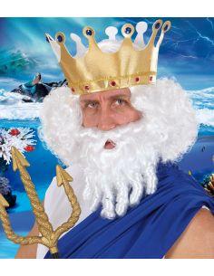 Peluca con Barba y Bigote Neptuno Tienda de disfraces online - venta disfraces