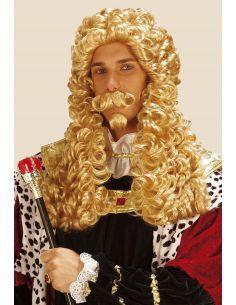 Peluca Juez Rubia con Bigote y Perilla Tienda de disfraces online - venta disfraces
