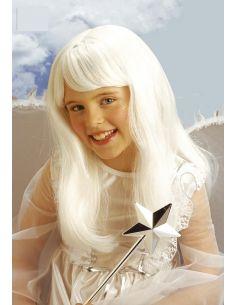 Peluca Hada Blanca infantil Tienda de disfraces online - venta disfraces
