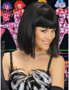 Peluca Negra Corta con Flequillo Tienda de disfraces online - venta disfraces