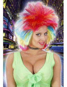 Peluca Rockera de Colores Tienda de disfraces online - venta disfraces
