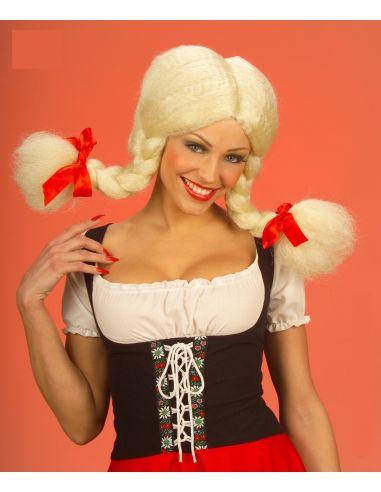 Peluca Heidi Trenzas Rubia Tienda de disfraces online - venta disfraces