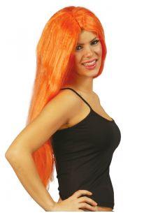 Peluca Melena Larga Naranja Tienda de disfraces online - venta disfraces