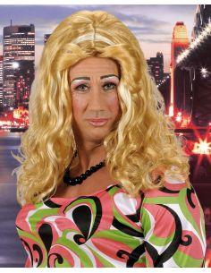 Peluca Drag Queen Ondulada Rubia Tienda de disfraces online - venta disfraces