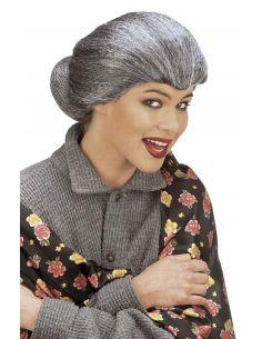 Peluca Anciana con Moño Canosa Tienda de disfraces online - venta disfraces