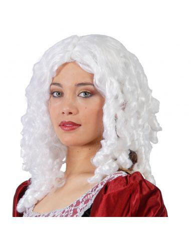 Peluca Época Tirabuzones Blanca Tienda de disfraces online - venta disfraces