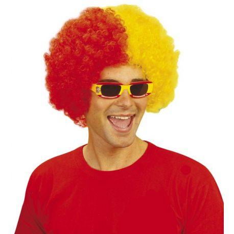 Peluca Bicolor Amarilla y Roja