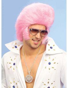 Peluca Rey del Rock en Rosa Tienda de disfraces online - venta disfraces