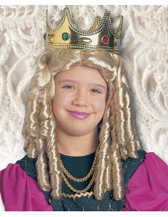 Peluca Princesa Tirabuzones infantil Tienda de disfraces online - venta disfraces