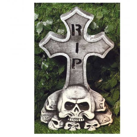 Lapida Cruz con Calaveras