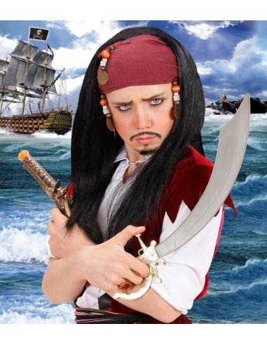 Peluca Pirata con Pañuelo infantil Tienda de disfraces online - venta disfraces