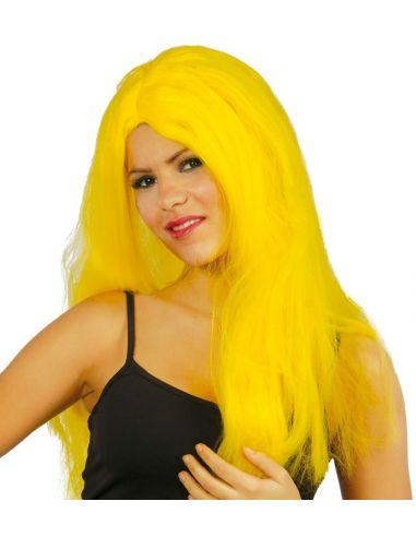 Peluca Melena Larga Amarilla Tienda de disfraces online - venta disfraces