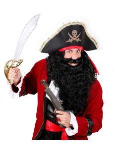 Barba con Bigote Negra Tienda de disfraces online - venta disfraces