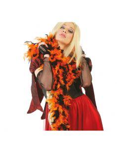 Boa bicolor negra y naranja  Tienda de disfraces online - venta disfraces