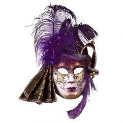 Máscara Veneciana Púrpura Decorada Tienda de disfraces online - venta disfraces
