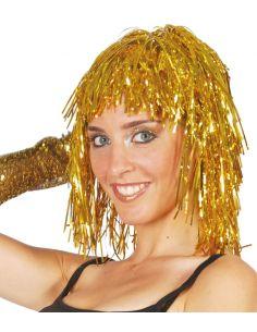 Peluca Brillante Lumalina Oro Tienda de disfraces online - venta disfraces