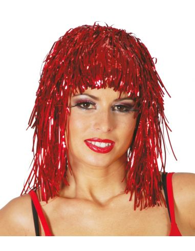 Peluca Brillante Lumalina Roja Tienda de disfraces online - venta disfraces