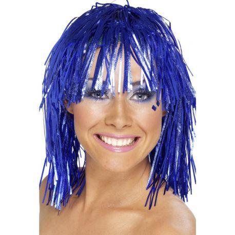 Peluca Brillante Lumalina Azul