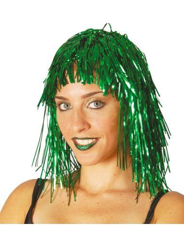 Peluca Verde Brillante Lumalina Tienda de disfraces online - venta disfraces