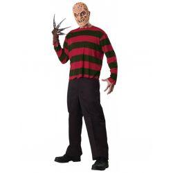 Disfraz Camiseta y mascara de Freddy Krueger Adulto