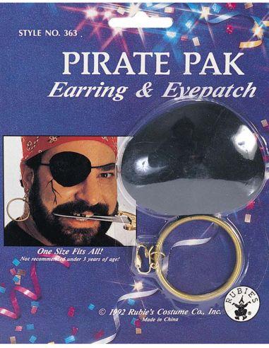 Set Parche y Pendiente de Pirata