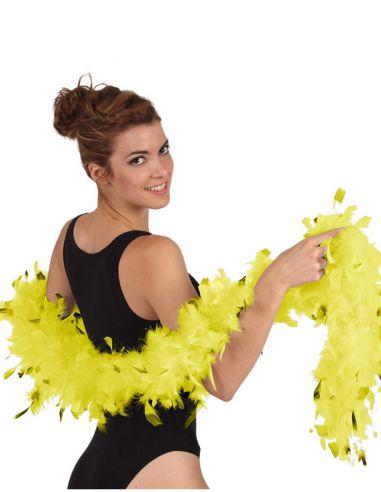 Boa Bicolor Amarilla Tienda de disfraces online - venta disfraces