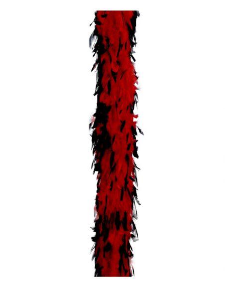 Boa Marabú bicolor roja/negra 40gr Tienda de disfraces online - venta disfraces