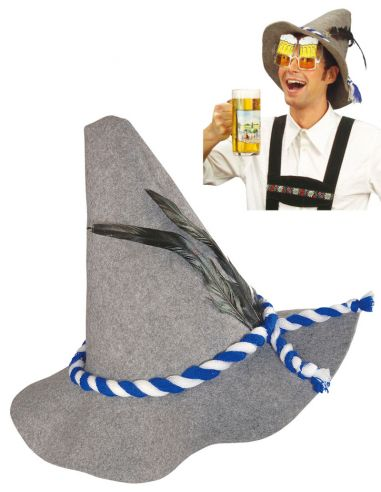 Sombrero Bávaro Gris Tienda de disfraces online - venta disfraces