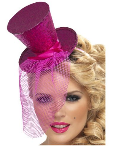 Mini Chistera Purpurina Fucsia Tienda de disfraces online - venta disfraces