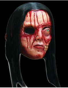 Máscara Mujer Zombie con pelo