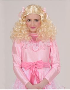 Peluca Ondulada Rubia infantil Tienda de disfraces online - venta disfraces