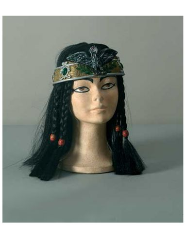 Peluca Egipcio con Trenzas y Corona Tienda de disfraces online - venta disfraces