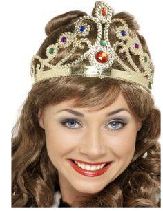 Corona Reina en Oro o Plata con Piedras Tienda de disfraces online - venta disfraces