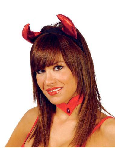 Diadema de Diablesa en Vinilo Tienda de disfraces online - venta disfraces