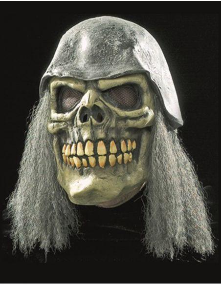 Máscara de calavera con casco