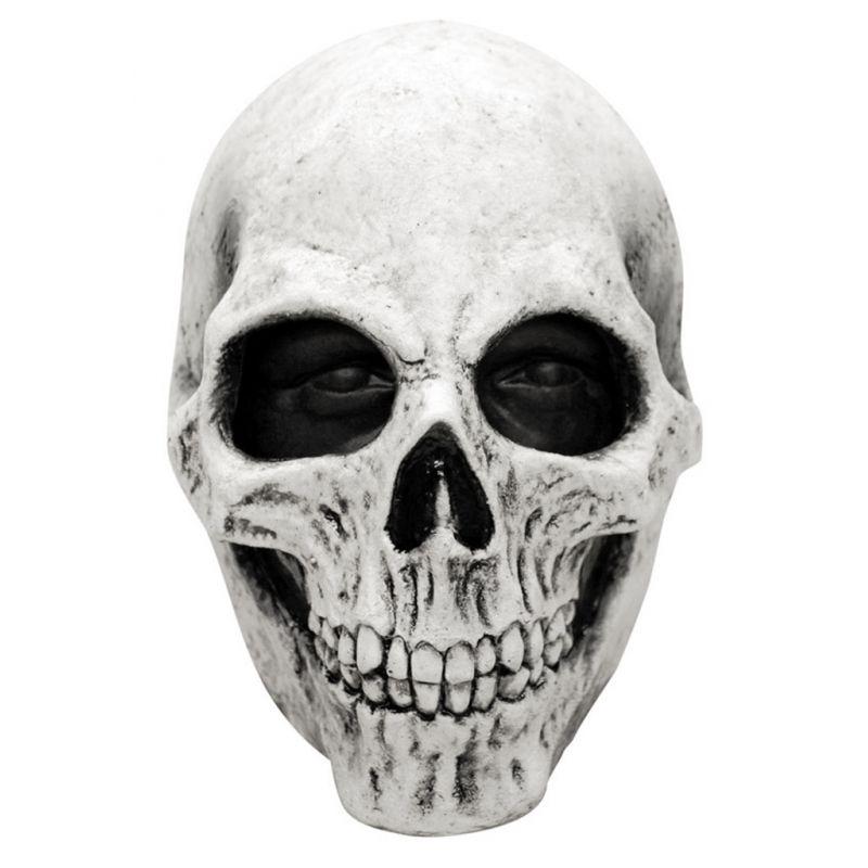 Mascara calavera blanca de latex tienda de disfraces - Mascaras de terror ...