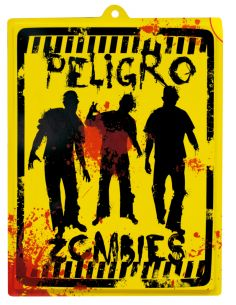 Cartel Peligro Zombie Tienda de disfraces online - venta disfraces
